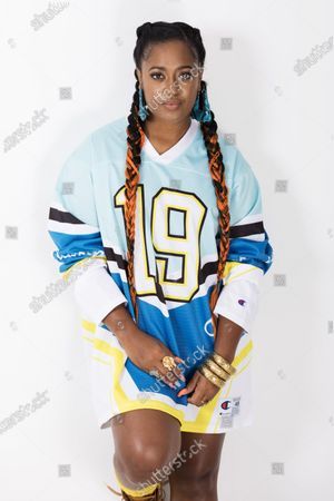 """This photo shows Rapsody posing for a portrait in New York. Rapsody's """"Pray Momma Don't Cry"""" is one of four songs featured on """"I Can't Breath/Music for the Movement,"""" a four-song album that is a joint venture between Disney Music Group and The Undefeated, ESPN's platform for exploring the intersections of race, sports and culture. Rapsody is hoping the album can unite people"""