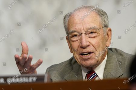 US Senator Charles Grassley speaks during the confirmation hearing for Supreme Court nominee Amy Coney Barrett, before the Senate Judiciary Committee on Capitol Hill in Washington, DC, USA, 13 October 2020. Barrett was nominated by President Donald Trump to fill the vacancy left by Justice Ruth Bader Ginsburg who passed away in September.