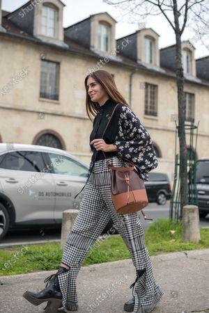 Editorial image of Street Style, Loewe show, Fall Winter 2020, Paris Fashion Week, France - 28 Feb 2020