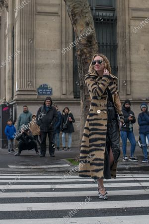 Editorial photo of Street Style, Paco Rabanne show, Fall Winter 2020, Paris Fashion Week, France - 27 Feb 2020