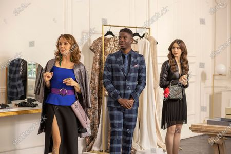 Philippine Leroy-Beaulieu as Sylvie Grateau, Samuel Arnold as Julien and Lily Collins as Emily Cooper