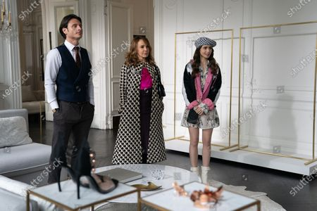 Charles Martins as Mathieu Cadault, Philippine Leroy-Beaulieu as Sylvie Grateau and Lily Collins as Emily Cooper