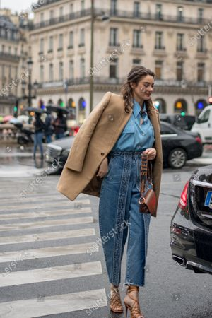 Editorial image of Street Style, Stella McCartney show, Fall Winter 2020, Paris Fashion Week, France - 02 Mar 2020