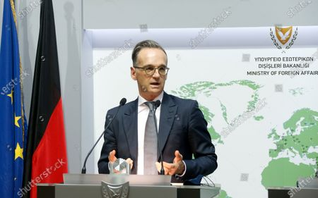 Editorial image of German Foreign Minister Heiko Maas visits Cyprus, Nicosia - 13 Oct 2020