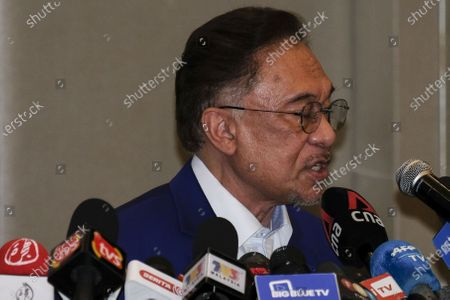 Editorial picture of Opposition leader addressees the press in Kuala Lumpur, Malaysia - 13 Oct 2020