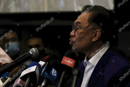 Editorial image of Opposition leader addressees the press in Kuala Lumpur, Malaysia - 13 Oct 2020