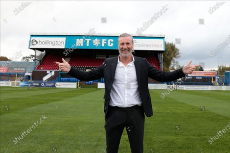 Robbie Savage, the Head of Football Operations of the new Macclesfield FC at the Moss Rose stadium