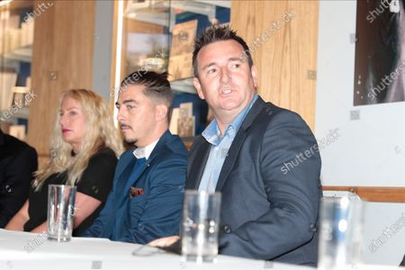 Robert Smethurst the new owner of Macclesfield FC answers questions at todays press conference