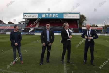 Carlos Roca, Robert Smethurst,Robbie Savage and Danny Whittaker the new management team at Macclesfield FC