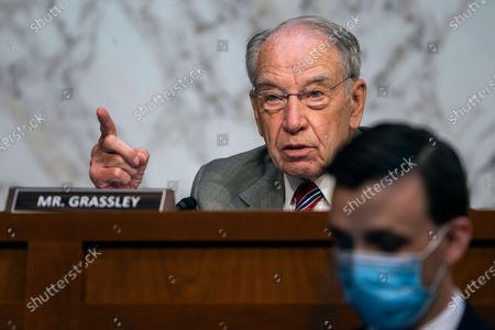 Sen. Charles Grassley, R-Iowa, speaks during a confirmation hearing for Supreme Court nominee Amy Coney Barrett before the Senate Judiciary Committee, on Capitol Hill in Washington
