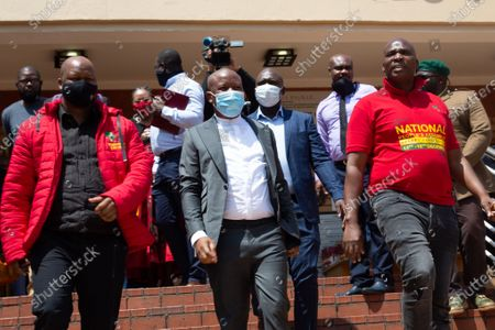 Editorial image of Julius Malema outside Randburg magistrates court in Johannesburg, South Africa - 13 Oct 2020