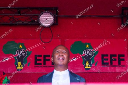 Stock Picture of Julius Malema seen outside the Randburg magistrates court.  Economic Freedom Fighters (EFF) leader Julius Malema and the party's MP Mbuyiseni Ndlozi appeared in court to answer to allegations that they assaulted a police colonel at struggle icon Winnie-Madikizela-Mandela's funeral in 2018.