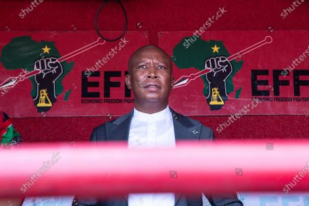 Stock Image of Julius Malema seen outside the Randburg magistrates court.  Economic Freedom Fighters (EFF) leader Julius Malema and the party's MP Mbuyiseni Ndlozi appeared in court to answer to allegations that they assaulted a police colonel at struggle icon Winnie-Madikizela-Mandela's funeral in 2018.