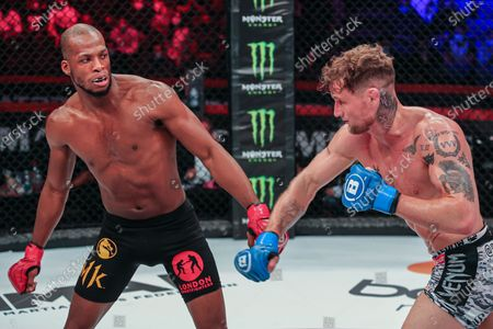 Stock Photo of Michael Page VS ROSS HOUSTON  France has finally authorized the practice of the very famous discipline of mixed martial arts, better known as MMA and which will eventually come under the aegis of the French Boxing Federation. The international MMA organization - Bellator, one of the main players in this very popular sport in the world, makes a triumphant arrival in France with its first event on October 10, 2020 at ACCOR ARENA.