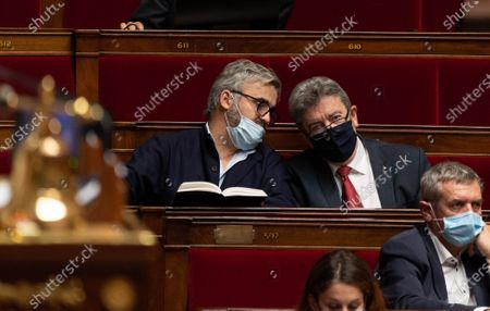 Alexis Corbiere and Jean-Luc Melenchon