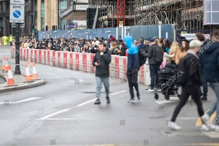 People turn out to see Robert Pattinson at St George's Hall, Liverpool, filming for The Batman.