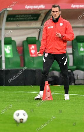 Polish national soccer team player Arkadiusz Milik attends a training session in Wroclaw, western Poland, 13 October 2020. Poland will face Bosnia and Herzegovina in their UEFA Nations League soccer match on 14 October 2020.