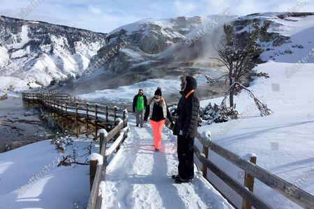 Editorial photo of MT Yellowstone Winter Lodging, Yellowstone National Park, United States - 20 Jan 2017
