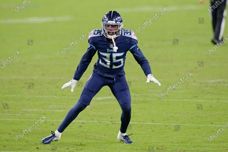 Tennessee Titans defensive back Chris Jackson (35) plays against the Buffalo Bills in the second half of an NFL football game, in Nashville, Tenn