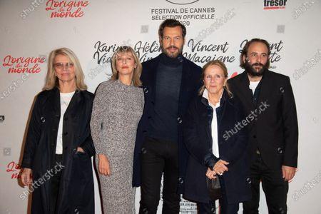 (L-R) Nicole Garcia, Karin Viard, Laurent Lafitte, Helene Vincent and Vincent Macaigne
