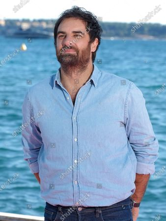 """Gregory Montel attends the """"Dix Pour Cent"""" photocall at the 3rd Canneseries on October 13, 2020 in Cannes, France."""