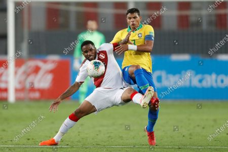 Editorial photo of Peru vs Brazil in South American qualifiers, Lima - 13 Oct 2020