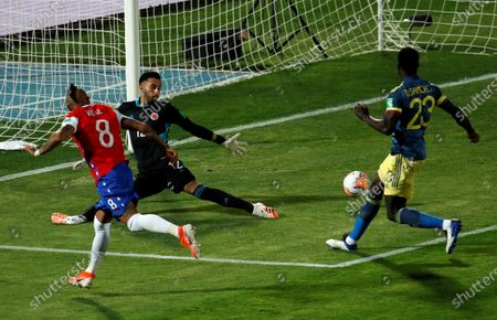 Editorial picture of Chile vs. Colombia, Santiago - 13 Oct 2020