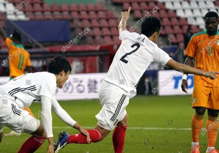 Stock Image of UEDA Naomichi of Japan during international friendly match Japan v. Cote d'Ivoire in Stadion Galgenwaard in Utrecht, Netherlands Photo by SCS/Soenar Chamid/AFLO (HOLLAND OUT)/AFLO