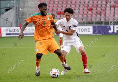 Editorial image of Football/Soccer:Friendly match Japan v. Cote d'Ivoire, Utrecht, Netherlands - 13 Oct 2020