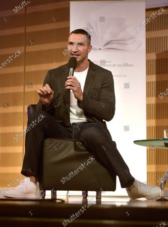 Stock Picture of Wladimir Klitschko presents his book 'FACE the Challenge' at the opening of OPEN BOOKS 2020 in the German National Library. On the sidelines of Frankfurt Book Fair