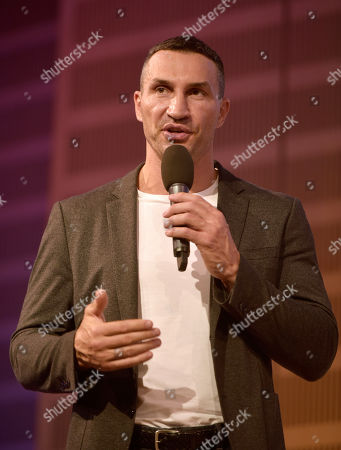 Stock Image of Wladimir Klitschko presents his book 'FACE the Challenge' at the opening of OPEN BOOKS 2020 in the German National Library. On the sidelines of Frankfurt Book Fair