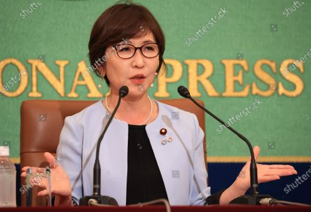 Editorial picture of Former Defense Minister Tomomi Inada speaks at the Japan National Press Club, Tokyo, Japan - 14 Oct 2020
