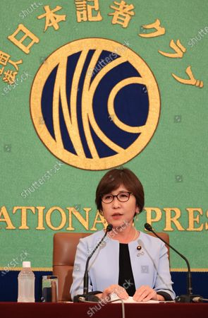 Editorial image of Former Defense Minister Tomomi Inada speaks at the Japan National Press Club, Tokyo, Japan - 14 Oct 2020