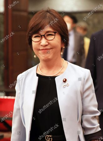 Editorial photo of Former Defense Minister Tomomi Inada speaks at the Japan National Press Club, Tokyo, Japan - 14 Oct 2020