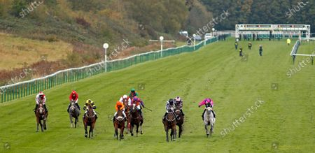 Stock Picture of WRENTHORPE (2nd right, Graham Lee) beats FREE LOVE (centre) in The Mansionbet Proud To Support British Racing Handicap Nottingham