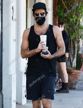 Stock Picture of Zachary Quinto is seen getting coffee