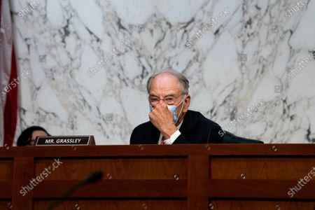 Sen. Charles Grassley, R-Iowa, listens during the confirmation hearing for Supreme Court nominee Amy Coney Barrett, before the Senate Judiciary Committee, on Capitol Hill in Washington