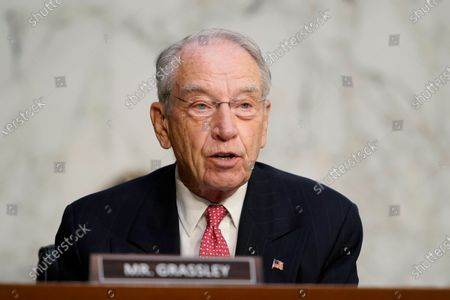 Sen. Charles Grassley, R-Iowa, speaks during the confirmation hearing for Supreme Court nominee Amy Coney Barrett, before the Senate Judiciary Committee on Capitol Hill in Washington, DC, USA, 14 October 2020. The hearings are expected to last four days.