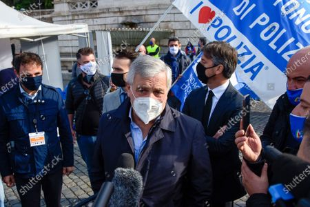 Editorial image of Protest of the police unions in Rome, Italy - 14 Oct 2020