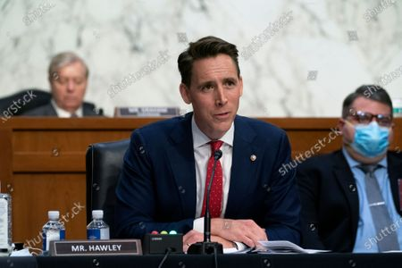 United States Senator Josh Hawley (Republican of Missouri), speaks during a Senate Judiciary Committee confirmation hearing in Washington, D.C., U.S.,. Senate Democrats enter a second day of questioning Barrett having made few inroads in their fight to keep her off the Supreme Court and elicited few clues about how she would rule on key cases.