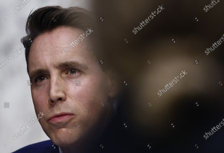 United States Senator Josh Hawley (Republican of Missouri) participates in the Senate Judiciary Committee confirmation hearing for Supreme Court nominee Judge Amy Coney Barrett on Capitol Hill in Washington, DC. Barrett was nominated by President Donald Trump to fill the vacancy left by Justice Ruth Bader Ginsburg who passed away in September.