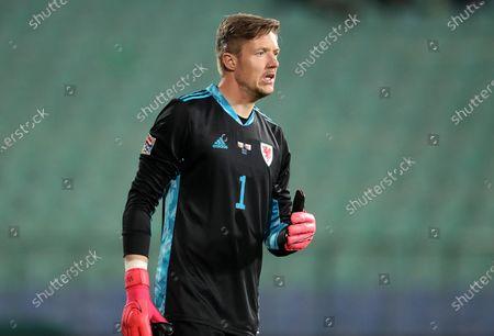 Keeper Wayne Hennessey of Wales.