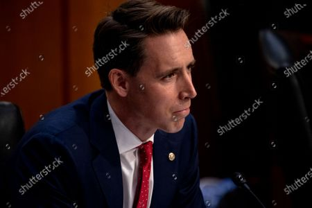 Josh Hawley (R-MO) during the third day of Senate Judiciary Committee confirmation hearings for Judge Barrett on Capitol Hill in Washington, DC, USA, 14 October 2020. The hearings are expected to last four days.