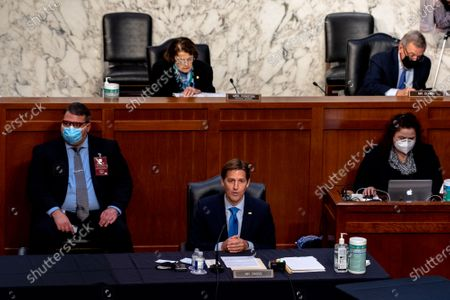 Ben Sasse (R-NE) participates in the third day of Judge Amy Coney Barrett, Nominee for Supreme Court, confirmation hearing with the Senate Judiciary Committee in Hart Senate Office Building in Washington, DC, USA, 14 October 2020.