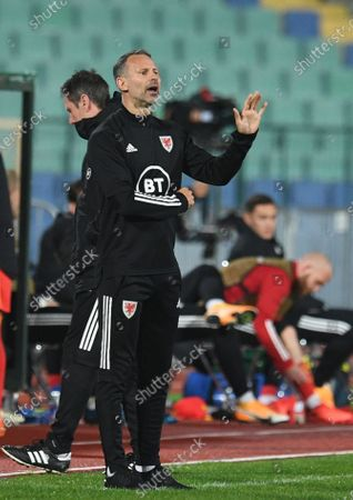 Head coach of Wales National soccer team Ryan Giggs reacts during the UEFA Nations League group stage, league B, group 4 match between Bulgaria and Wales in Sofia, Bulgaria  14 October 2020.