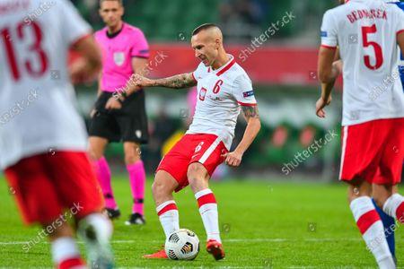Jacek Goralski during the UEFA Nations League group stage match between Poland and Bosnia-Herzegovina at Stadion Miejski