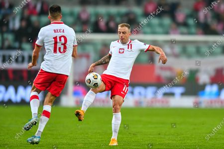 Kamil Grosicki during the UEFA Nations League group stage match between Poland and Bosnia-Herzegovina at Stadion Miejski
