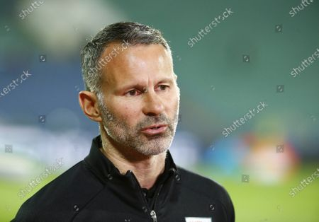 Wales coach Ryan Giggs talks to media prior to the UEFA Nations League soccer match between Bulgaria and Wales at Vassil Levski national stadium in Sofia, Bulgaria
