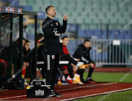 Wales' coach Ryan Giggs reacts during the UEFA Nations League soccer match between Bulgaria and Wales at Vassil Levski national stadium in Sofia, Bulgaria