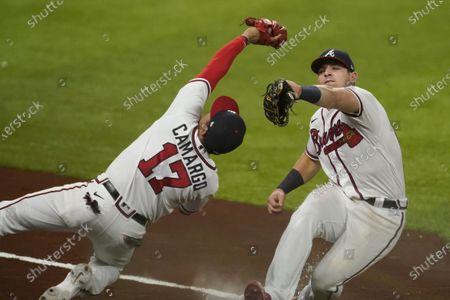 Editorial photo of NLCS Dodgers Braves Baseball, Arlington, United States - 14 Oct 2020